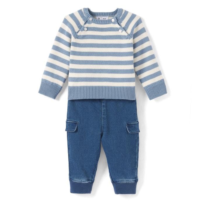 Completo bébé con scollo rotondo, maniche lunghe  La Redoute Collections image 0