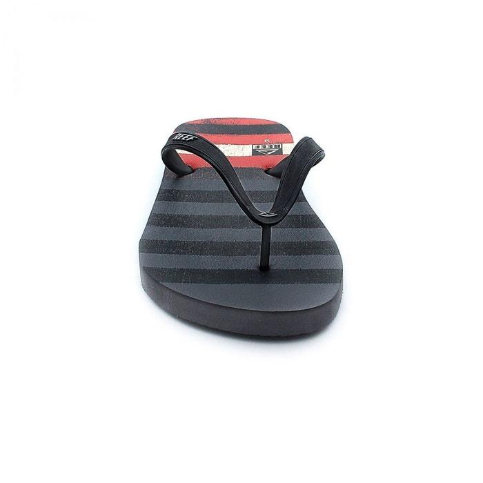 Tongs switchfoot print grey/red/black gris Reef