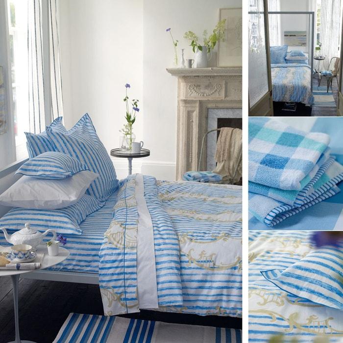 Housse de couette jinshi bleu bleu designers guild la for Housse de couette bleu nuit