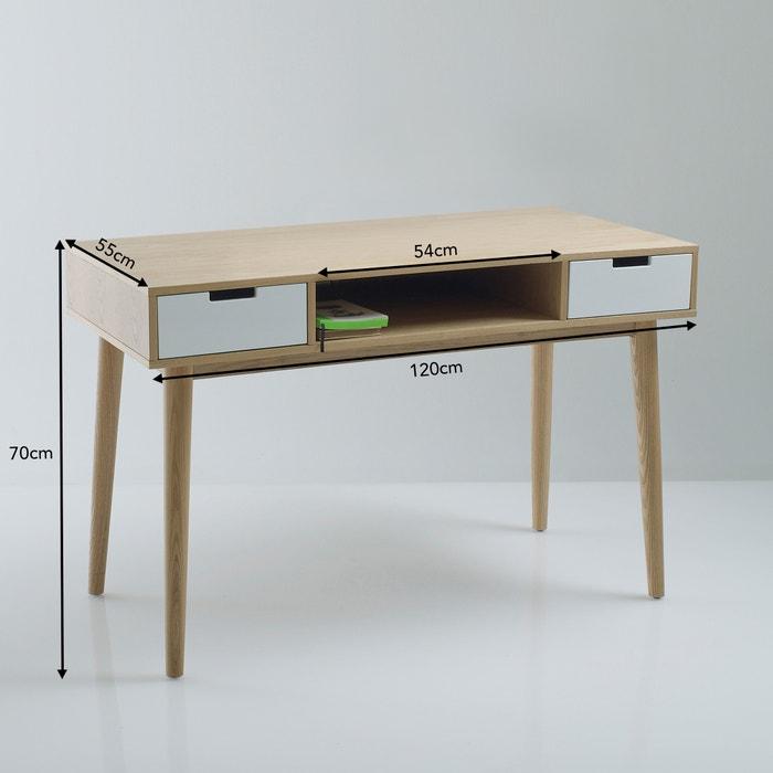 bureau vintage jimi la redoute interieurs blanc bois la. Black Bedroom Furniture Sets. Home Design Ideas