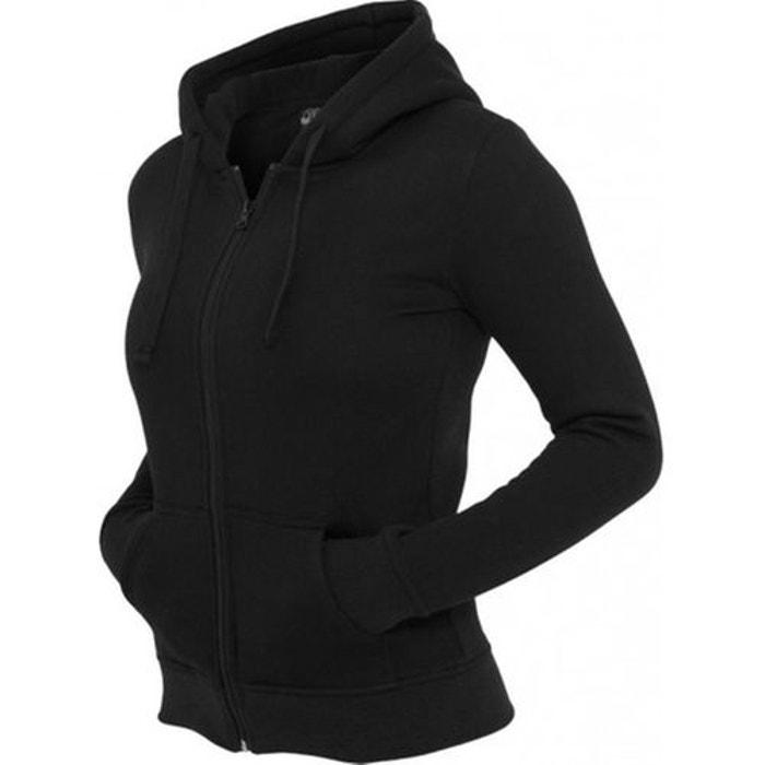 93352e6cb7c7 Sweat zippé à capuche molleton noir Urban Classics