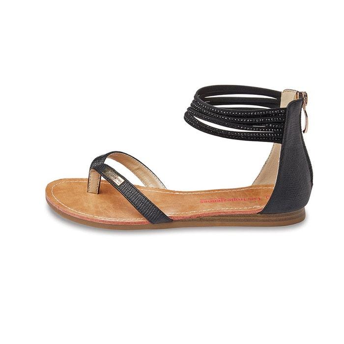 sandales cuir gingko noir les tropeziennes par m belarbi la redoute. Black Bedroom Furniture Sets. Home Design Ideas