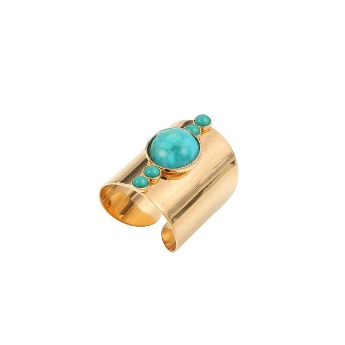 Choisir Une Meilleure Vente Bague ajustable dorée turquoise maya pm bleu Caroline Najman   La Redoute Liquidations Nouveaux Styles Stocker En Ligne Pas Cher Boutique Vente En Ligne BhuCJV