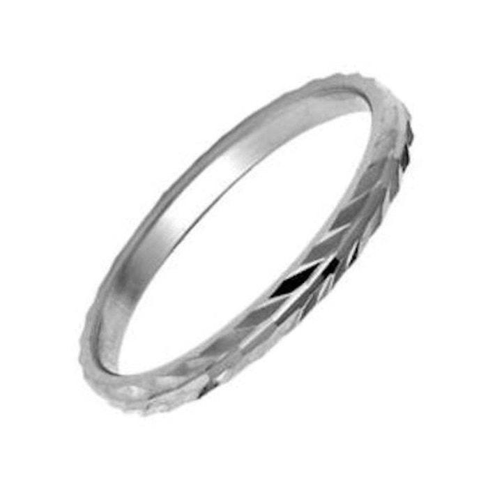 Bague alliance anneau motif 2 mm argent 925 couleur unique So Chic Bijoux | La Redoute Livraison Gratuite 2018 Le Plus Récent 8G5ikMA5e