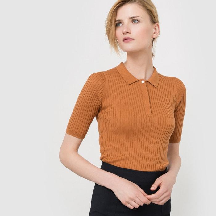 Image Pull polo en coton/soie atelier R