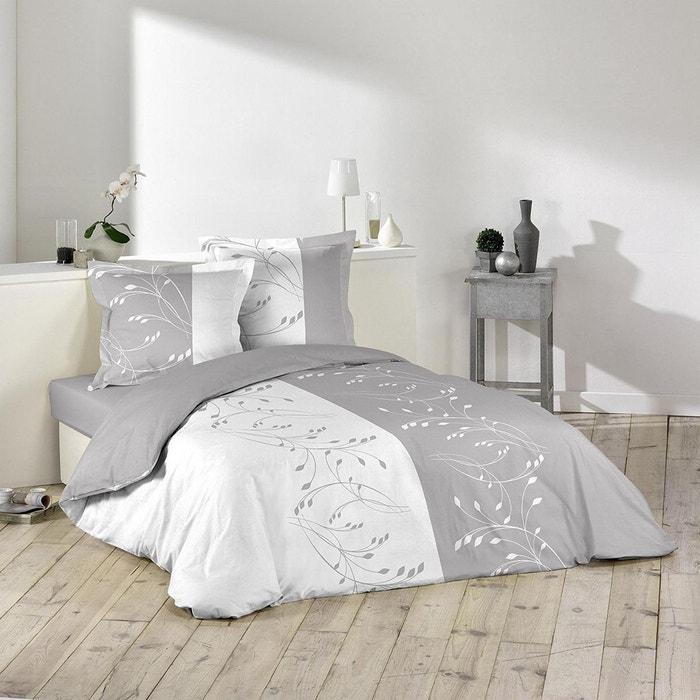 parure housse de couette imprime collection prestigia gris douceur d 39 int rieur la redoute. Black Bedroom Furniture Sets. Home Design Ideas
