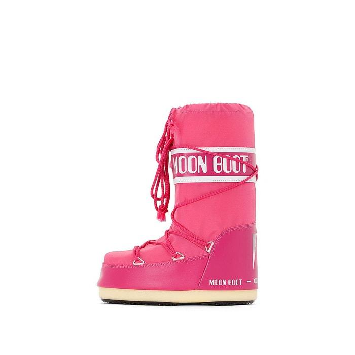 Bottes fourrées nylon rouge Moon Boot