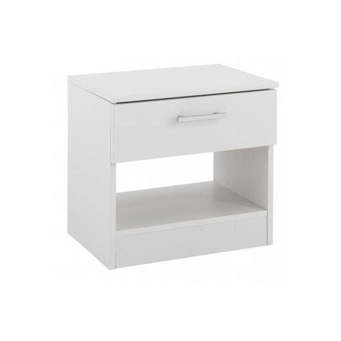 table de chevet en blanche beat blanc declikdeco la redoute. Black Bedroom Furniture Sets. Home Design Ideas