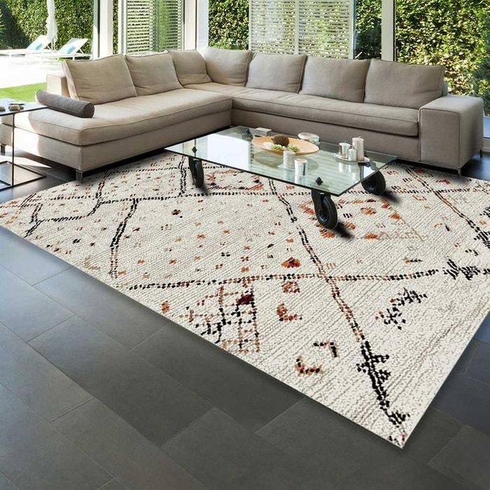 Tapis de Salon tapis Moderne Design Berbère MOROCCO STYLE - Polypropylène  frisée