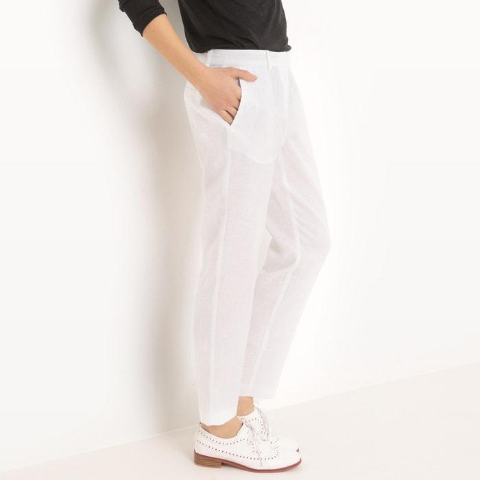 Linen Cigarette Trousers  La Redoute Collections image 0