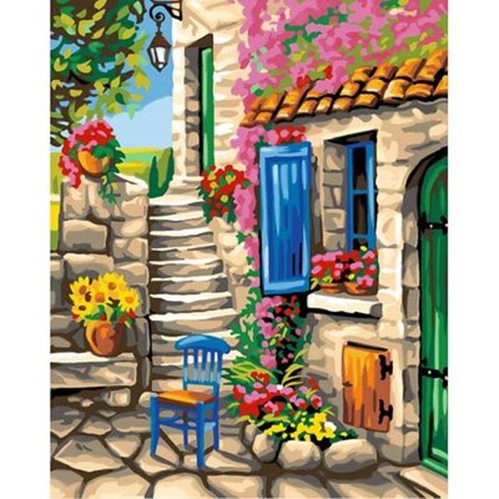 peinture au num ro maxi patio fleuri oz international la redoute. Black Bedroom Furniture Sets. Home Design Ideas