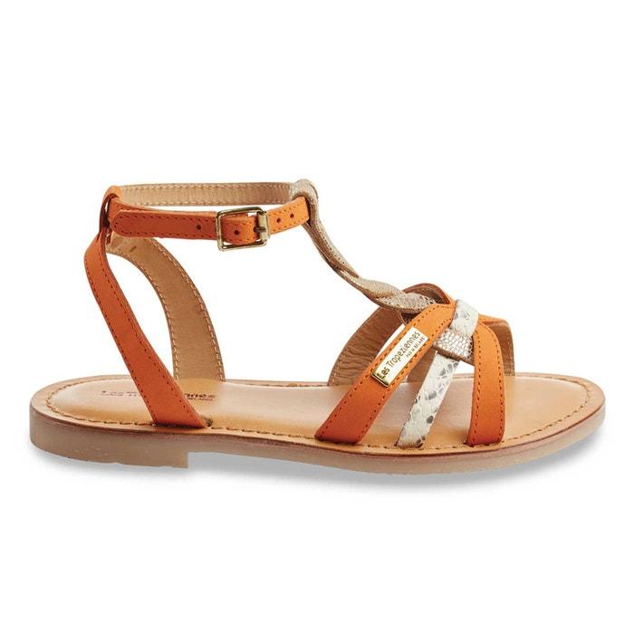 sandali in pelle arancione les tropeziennes par m belarbi la redoute. Black Bedroom Furniture Sets. Home Design Ideas