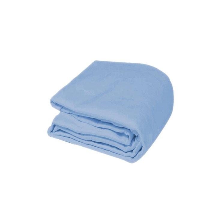 housse de couette bleue en flanelle bleu terre de nuit la redoute. Black Bedroom Furniture Sets. Home Design Ideas