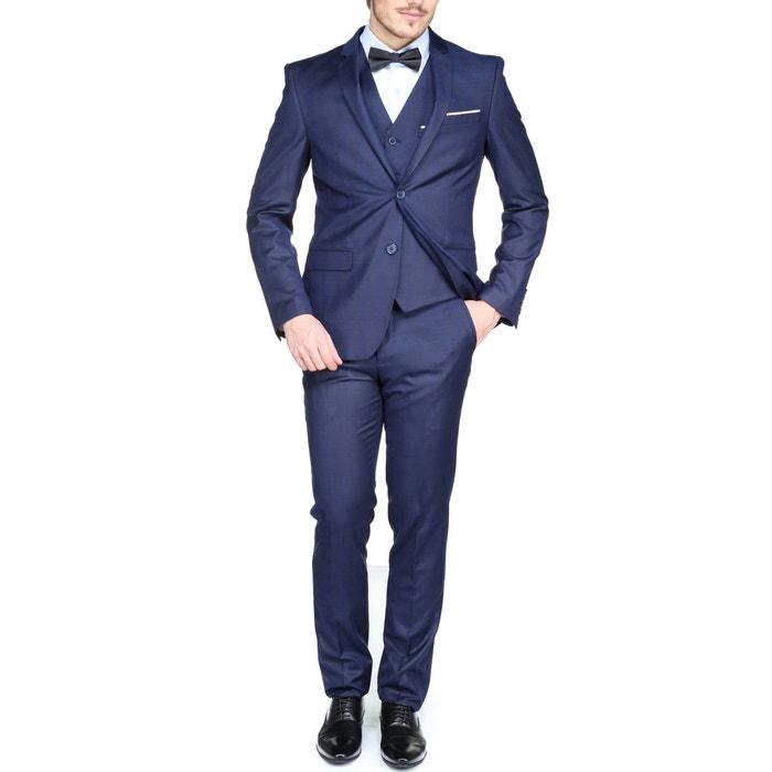 costume cintr 3 pi ces bleu jean louis scherrer la redoute. Black Bedroom Furniture Sets. Home Design Ideas