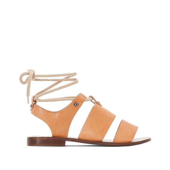 Sandales cuir   noir Jonak   La Redoute