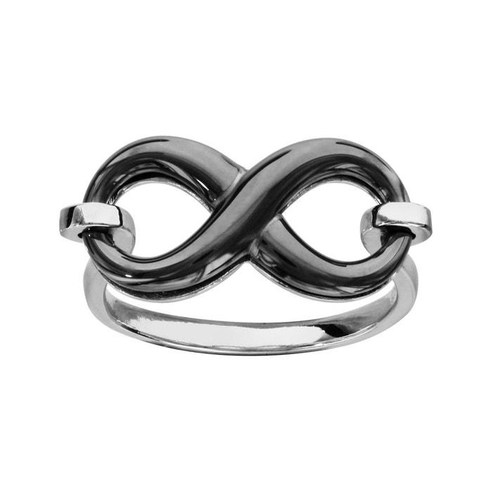 Bague symbole infini céramique noire argent 925 couleur unique So Chic Bijoux | La Redoute Trouver La Sortie Grand ItzLi6
