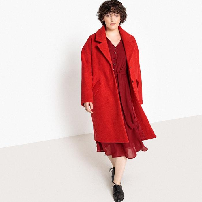 Manteau style masculin en laine mélangée  CASTALUNA image 0