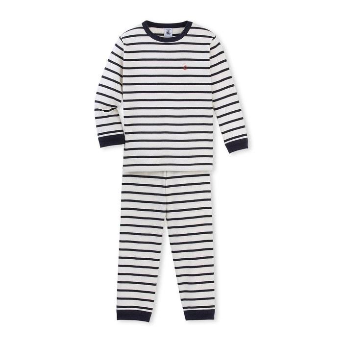 pyjama gar on ray beige petit bateau la redoute. Black Bedroom Furniture Sets. Home Design Ideas