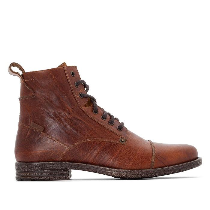 7f7d8680eeda3 Boots cuir emerson marron Levi s   La Redoute