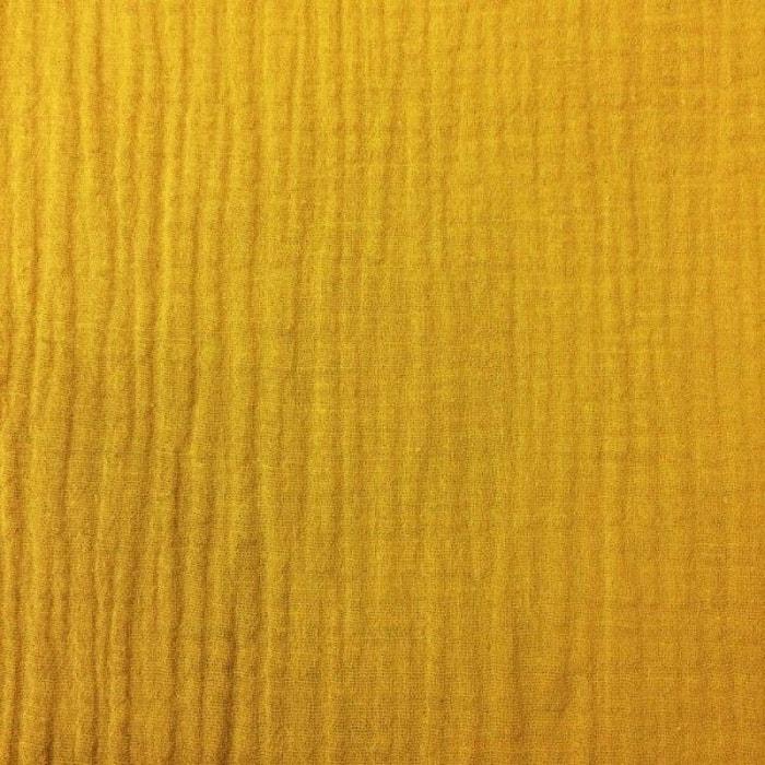 tissu double gaze col curcuma jaune la mercerie parisienne la redoute. Black Bedroom Furniture Sets. Home Design Ideas