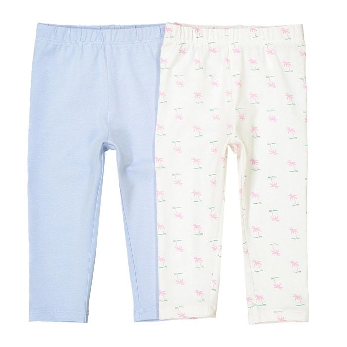 Confezione da 2 legging in cotone stretch da 1 mese a 3 anni  La Redoute Collections image 0