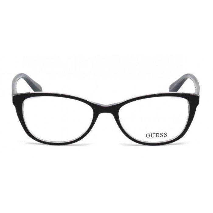 20d35d859bd Lunettes de vue pour femme guess noir gu 2589 001 52 17 noir Guess ...