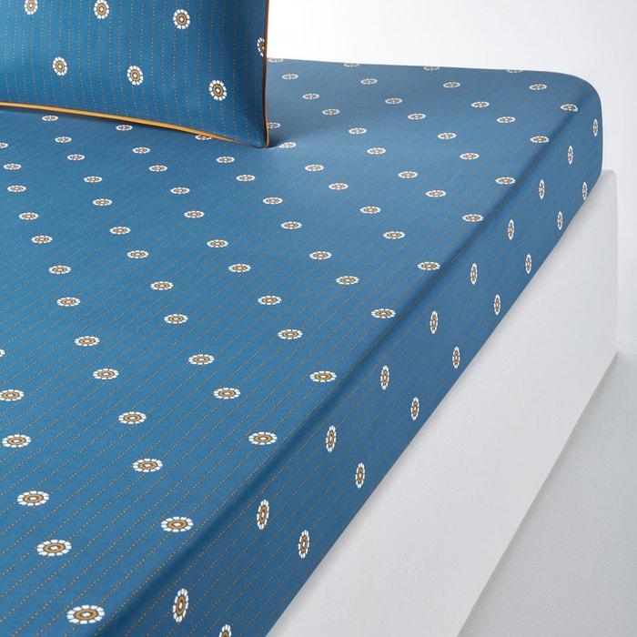 Drap housse imprim en percale indira imprim bleu fonc - La redoute draps housse ...