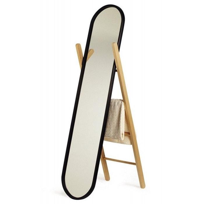 Miroir sur pied psyché bois Hub