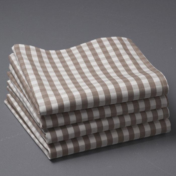 Image Serviettes de table en vichy pur coton tissé-teint, GARDEN PARTY La Redoute Interieurs