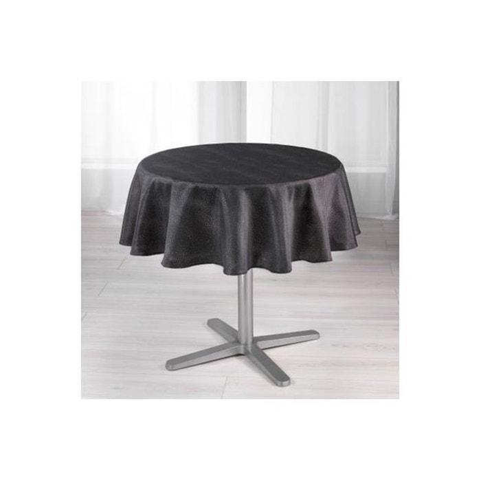 nappe ronde scintillante blanche d180 natale noir. Black Bedroom Furniture Sets. Home Design Ideas