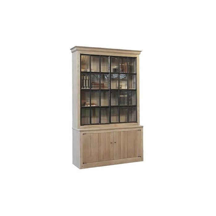 meuble vitrine 2 portes chne massif 150x50x237 aline pier import image 0