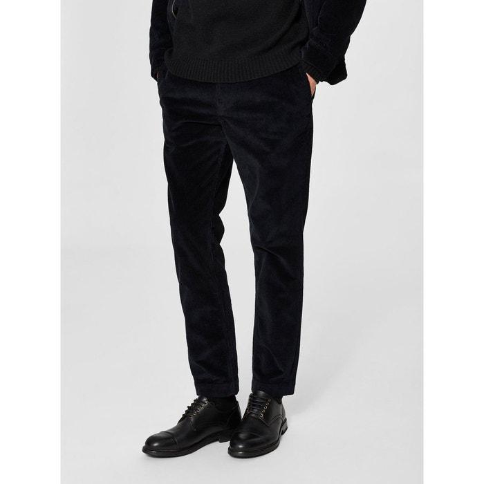 pantalon velours c tel bleu navy blazer selected homme. Black Bedroom Furniture Sets. Home Design Ideas