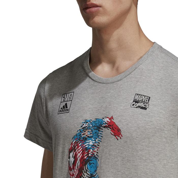 delante cuello PERFORMANCE y manga corta con Camiseta de ADIDAS estampado redondo dtX0qtxH
