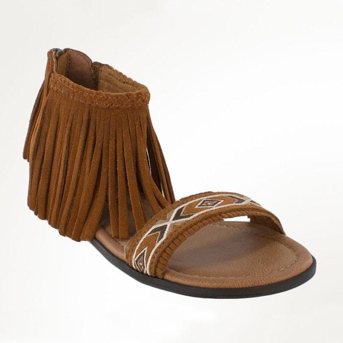 Sandales cuir  camel Minnetonka  La Redoute
