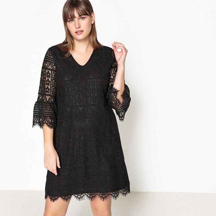 Plain Short Straight Dress with Long Sleeves  CASTALUNA image 0