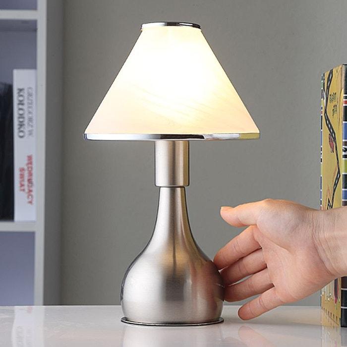 lampe de chevet ellen en verre et en mtal lampenwelt - Table De Chevet En Verre