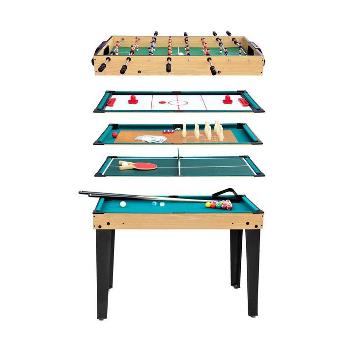 table multi jeux 10 en 1 bois rendez vous deco la redoute. Black Bedroom Furniture Sets. Home Design Ideas