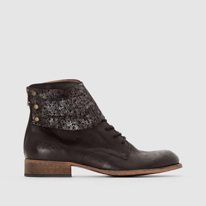 Faire Les Courses Pour Boots en cuir à lacets punkyzip noir brillant Kickers Visite Discount Neuf Point De Vente Pas Cher La Sortie Les Moins Chers b2PESAj0T
