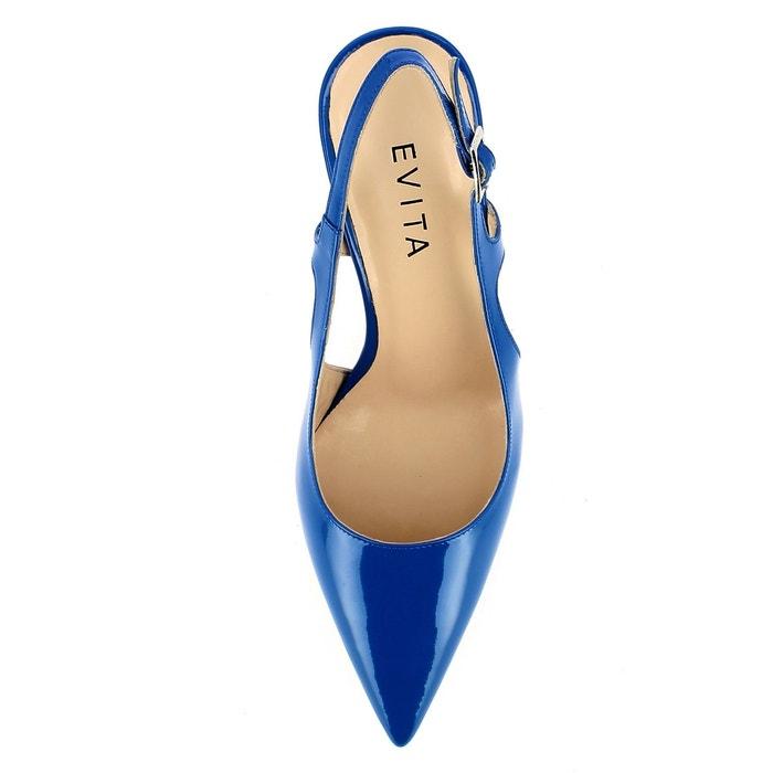 Escarpins sling bleu Evita