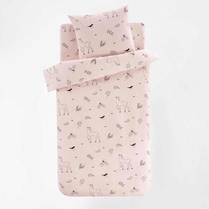 Housse de couette enfant coton ludine imprim fond rose la - La redoute housse couette enfant ...