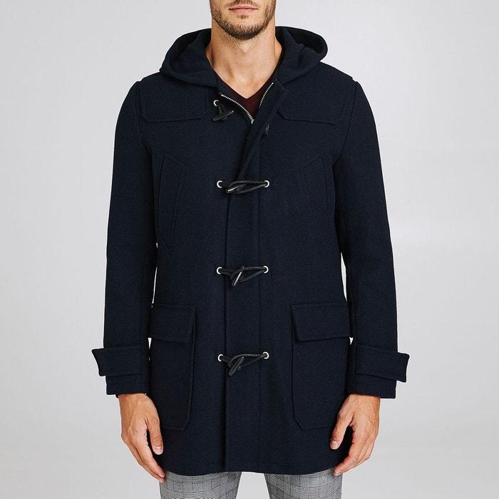manteau long style duffle coat bleu marine jules la redoute. Black Bedroom Furniture Sets. Home Design Ideas