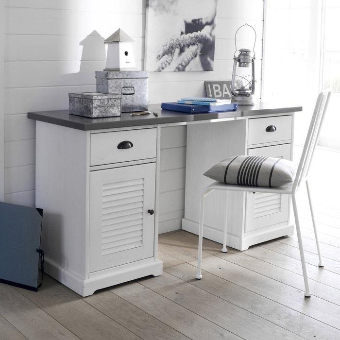 Bureau double caisson kath la redoute interieurs la redoute - La redoute meuble bureau ...