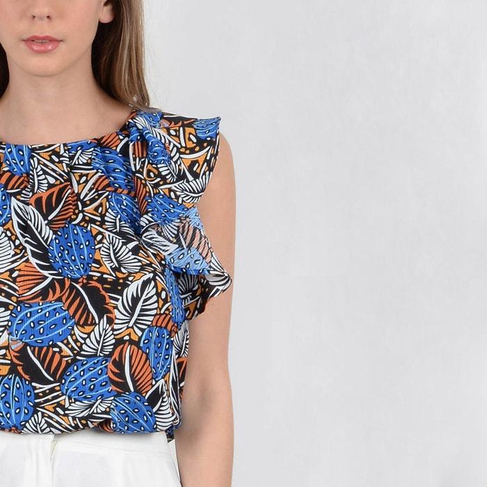 gr Blusa con mangas y cuello MOLLY redondo estampado BRACKEN 225;fico sin U51w6x0
