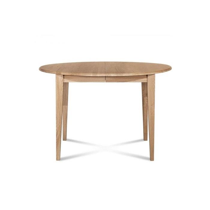 Table ronde extensible bois rallonges 105 cm pieds fuseau victoria hellin depuis 1862 - Table ronde la redoute ...