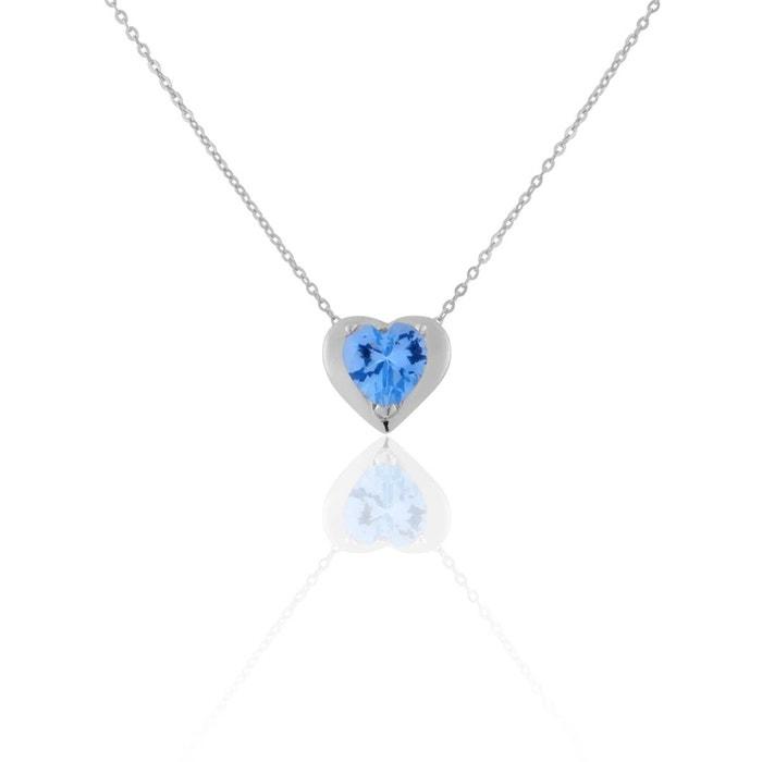 designer Collier or 375/1000 topaze bleu Cleor | La Redoute Acheter Pas Cher 100% Garanti Jeu Très Pas Cher particulier lnN5cvTIaO
