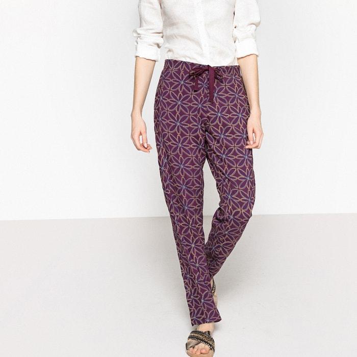 Pantaloni fluidi pigiama laccetto da annodare  La Redoute Collections image 0