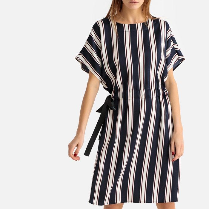 3390266e6ba76a6 Платье-футляр прямое в полоску с короткими рукавами темно-синий в полоску  La Redoute Collections | La Redoute