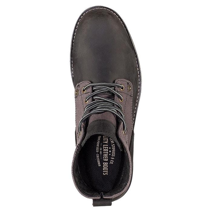 Boots cuir jax noir Levis