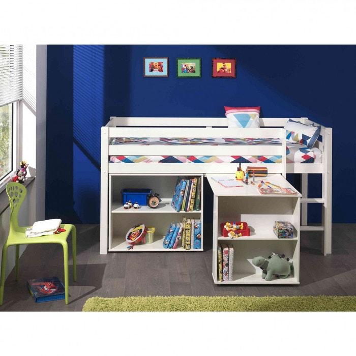 Lit mezzanine blanc bureau bibliothèque blanc Terre De Nuit   La Redoute c4a7b0ca3184