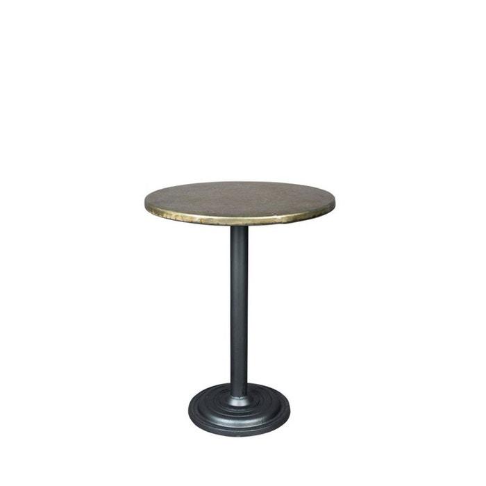 ewan table de bistrot ronde laiton drawer la redoute. Black Bedroom Furniture Sets. Home Design Ideas